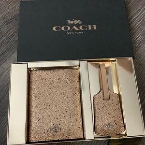 Coach star glitter travel set